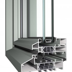 Fenêtres slim line au design façon acier